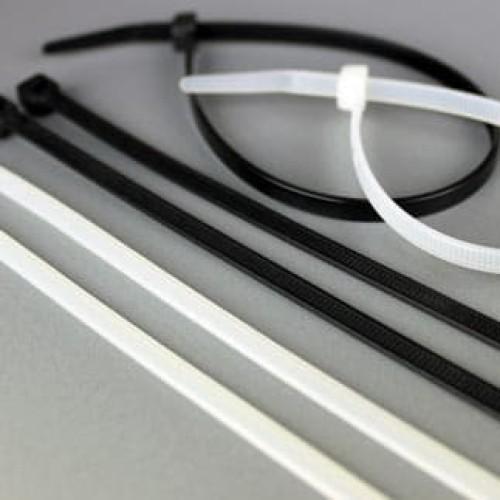 Foto Produk Kabel Ties 25 cm ( 100 Pcs ) - Hitam / Putih dari Natz