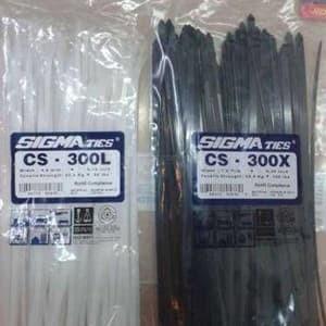 Foto Produk Kabel Ties / Kabel Tis / Cable Tie CS 300 T Hitam 30 cm SIGMA CS300T dari Natz