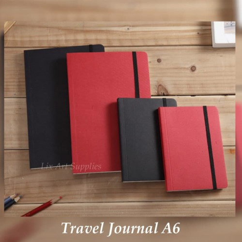 Foto Produk Potentate Mini Travel Journal A6 (80gsm - 80 sheets) - Merah dari Lix Art Supplies