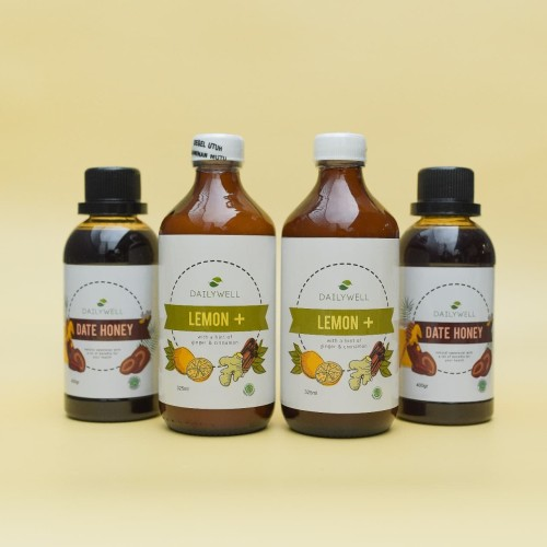 Foto Produk [Family Package] - 2 botol Dailywell Lemon+ & 2 botol Date Honey dari DAILYWELL