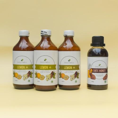 Foto Produk [Healthy Combo Package] - 3 botol Dailywell Lemon+ & 1 btol Date Honey dari DAILYWELL