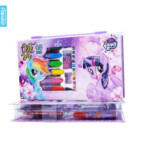Foto Produk My Little Pony Art Set 42 pcs Adinata/ Alat Mewarnai / Crayon (Purple) dari ADINATA Official Store
