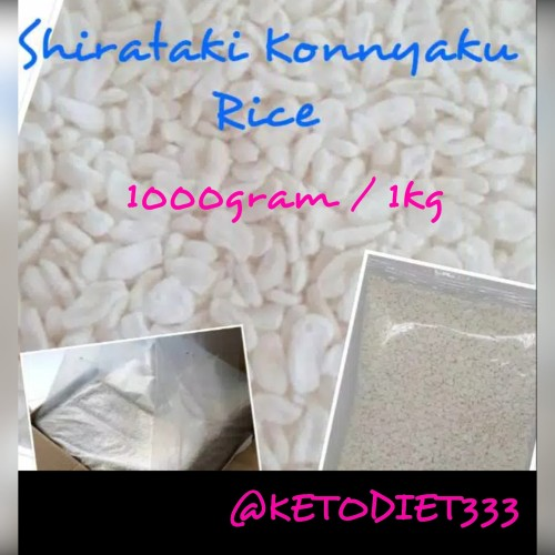 Foto Produk Low Carbs Shirataki Konnyaku Rice / Beras Shirataki uk 1kg dari KETODIET333