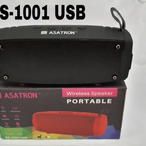 Foto Produk Asatron BS-1001 USB Portable Bluetooth Speaker / Radio FM / USB / TF - Merah dari pediatron shop