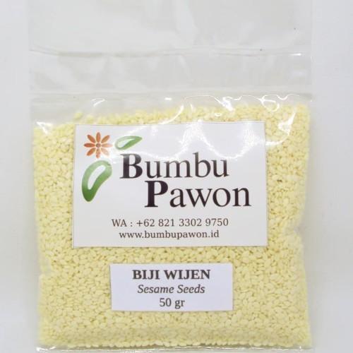 Foto Produk BP019K Biji Wijen Putih, Sesame Seeds 50 gram dari Bumbu Pawon.Id