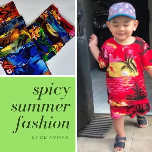 Foto Produk Setelan Baju Anak Pantai Rayon Bali - No 3 usia 7-9 dari Bhatara Collections