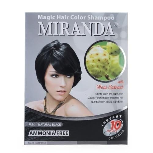 Foto Produk MIRANDA MAGIC HAIR COLOR SHAMPOO MS-1 NATURAL BLACK dari vitaminmurahcom