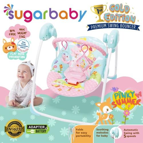 Foto Produk Sugar Baby Gold Edition Premium Swing Bouncer 3 MOTIF - Pinky Summer dari Chevy Baby Shop