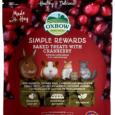 Foto Produk Oxbow Simple Rewards Baked Treats With Cranberry 3oz dari Bakpao Rabbit