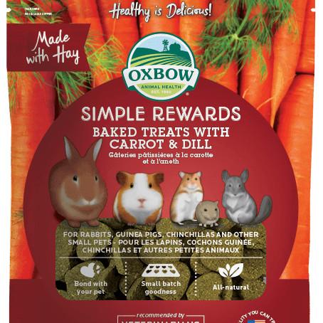 Foto Produk Oxbow Simple Rewards Baked Treats With Carrot & Dill 3oz dari Bakpao Rabbit