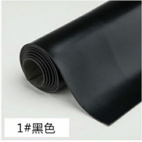 Foto Produk Bahan kulit sintetis tebal MD PELANGI HITAM 50x137cm, Imitasi tebal dari THE DOSIES