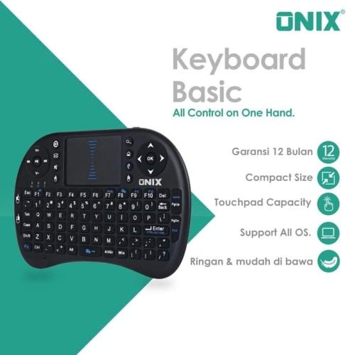 Foto Produk Onix Mini Wireless Keyboard Basic - Touchpad for KODI, PC and TV Box dari Onix Electronic