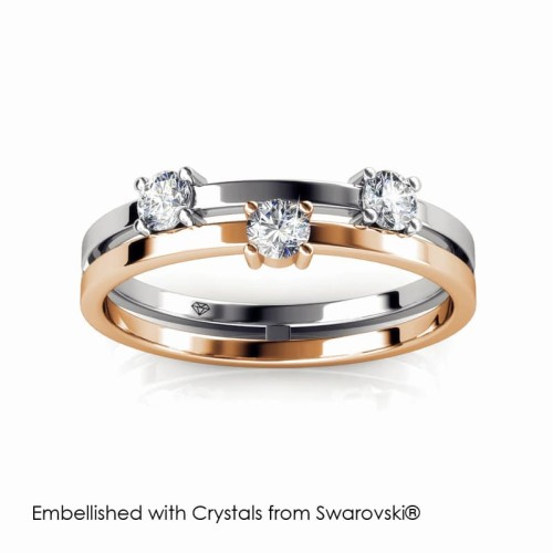 Foto Produk Bonding Ring - Cincin Crystals Swarovski® by Her Jewellery - White Rose Gold, 7 dari Her Jewellery