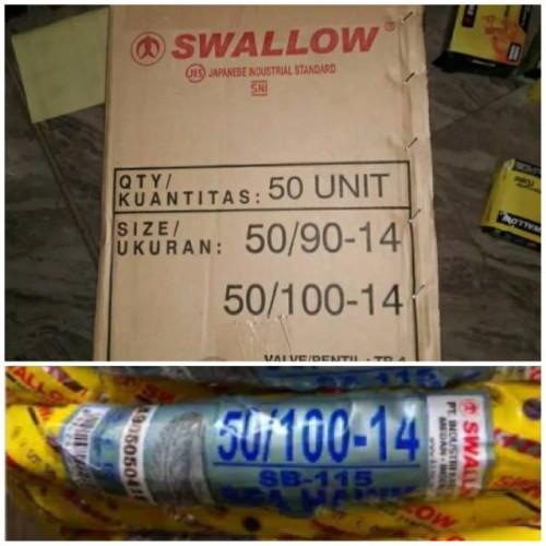 Foto Produk Paket Ban Swallow Uk 50 100 Ring 14 Plus Ban Dalam dari durar