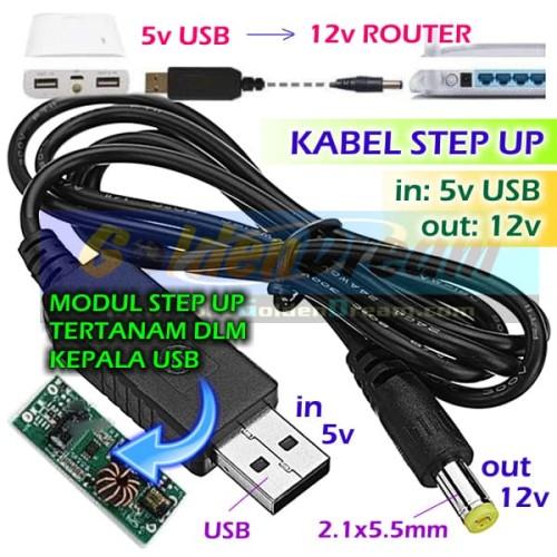 Foto Produk Kabel Step Up USB 5v to 12v DC Power Supply Charger Converter Adapter dari Golden Dream