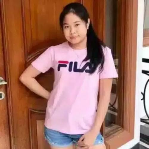 Foto Produk Kaos murah wanita BAJU KATUN FILA/FILA Tee /KAOS FILA LENGAN PENDEK 5 dari brostore66