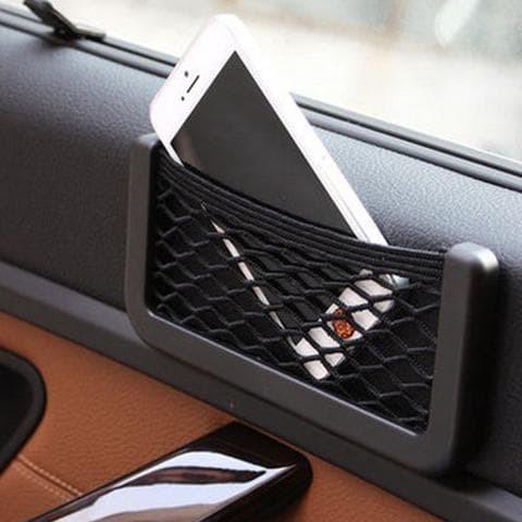 Foto Produk Kantong Jaring Handphone GPS Mobil Car Net Organizer Pocket Bag dari Mahkota Indo Trading