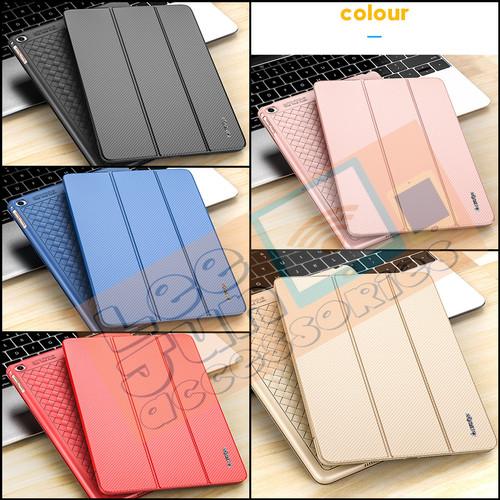 Foto Produk iPad Mini 1/2/3 Luxury KAKUSIGA Carbon 3 Fold Smart Flip Cover / Case - GOLD dari Lee Jun Accessories