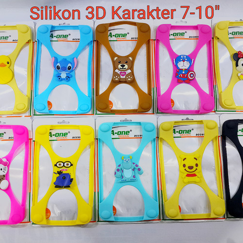 Foto Produk Silicon Case 7-10 inch Pelindung Handphone Bumper silicon Karakter dari juragan kado