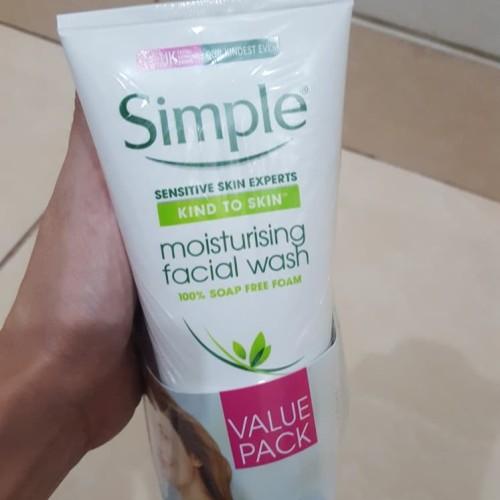 Foto Produk simple moisturising facial wash 150ml dari Macii and Miomio