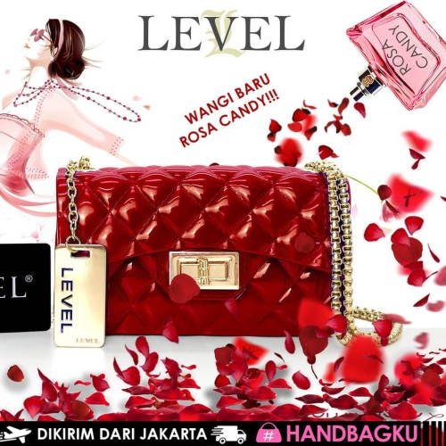 Foto Produk TAS JELLY GLOSSY MINI CLASSIC FASHION WANITA BATAM IMPORT BARU MURAH dari handbagku