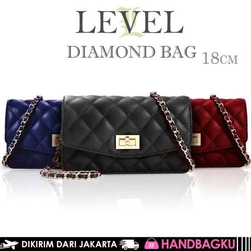 Foto Produk TAS LEVEL DIAMOND BAG WOC FASHION DOMPET SELEMPANG IMPORT BATAM MURAH dari handbagku