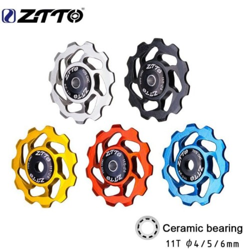 Foto Produk ZTTO Ceramic Bearing Pulley RD Rear Derailleur Jockey Wheel Sepeda - Biru dari vesantra