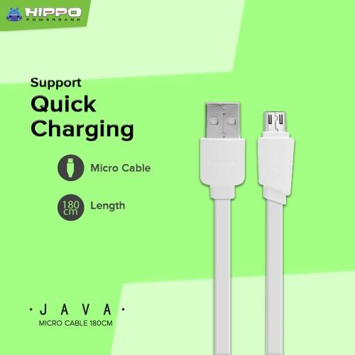 Foto Produk Hippo Java Micro USB Kabel Data & Charger 180cm - Abu -Abu Tua dari iLo Official Store