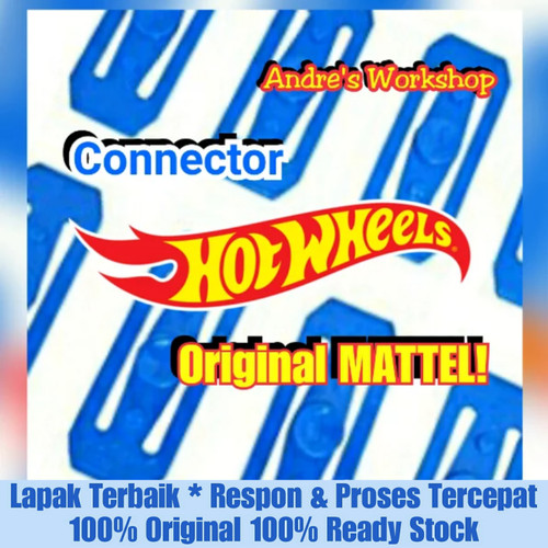 Foto Produk Hotwheels track builder Connector original Mattel Hot Wheels Konektor dari AndreTrackBuilderWorkshp