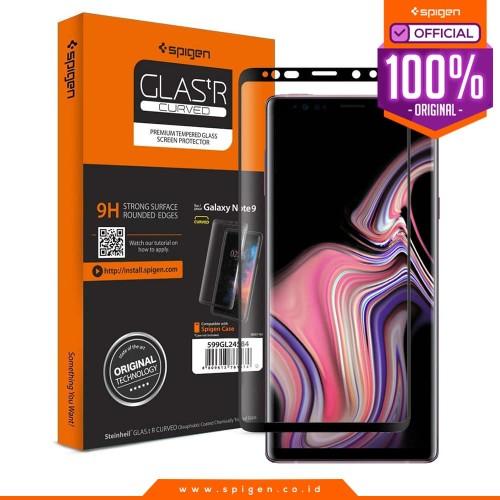 Foto Produk Tempered Glass Note 9 Full Spigen Glas tR Curved HD Screen Protector dari Spigen Official