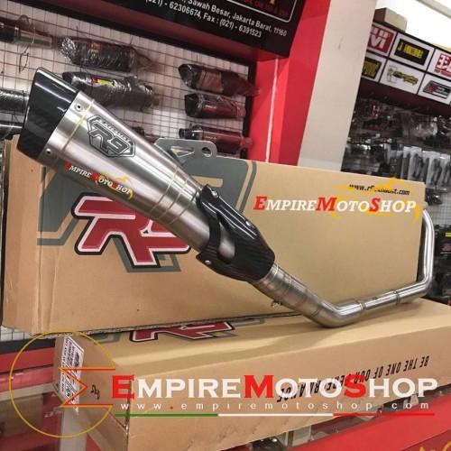 Foto Produk Knalpot R9 H2 New CBR 150 CBR150 K46 All New Fullsystem Stainless SS dari Empiremotoshop
