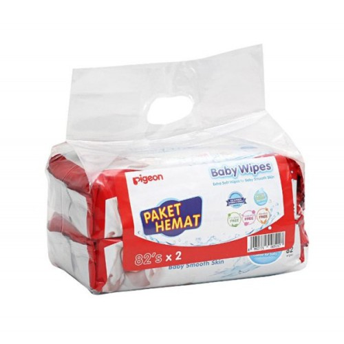 Foto Produk Pigeon Baby Wipes Pure Water 82 Sheet - 2 Pack dari babyzania-id