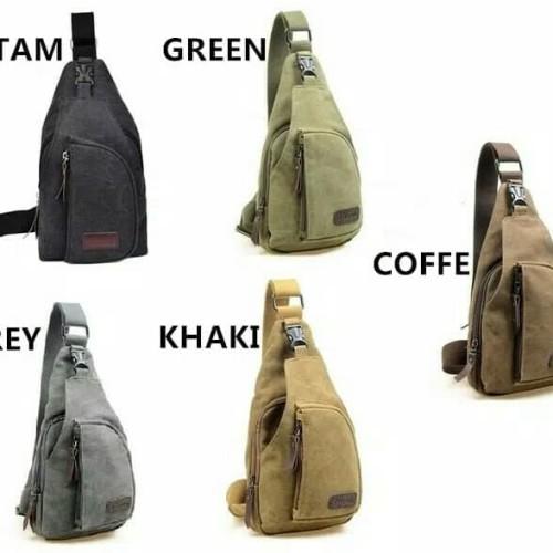 Foto Produk Tas selempang tas slempang pria sling bag kanvas dari Toko Dana