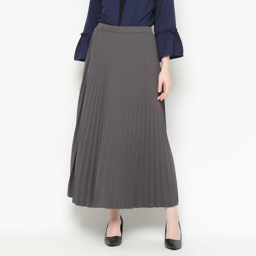 Foto Produk Eiza by duapola Plisket Aline Maxi Skirt 7176 - Grey dari Eiza