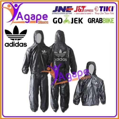 Foto Produk Jas Hujan Adidas Transparant Sauna All Size Dewasa - Hitam dari agape online store