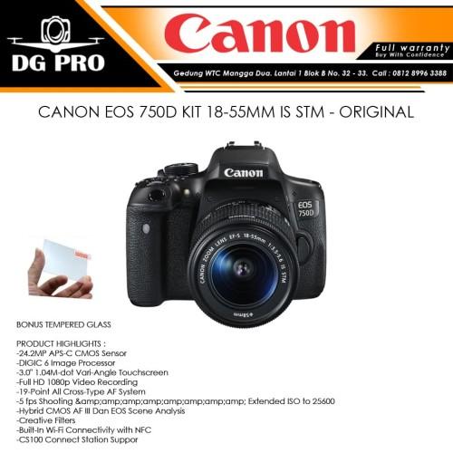 Foto Produk CANON EOS 750D KIT 18-55MM IS STM - ORIGINAL dari DG PRO