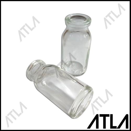 Foto Produk Wadah Botol Kaca 10 ml Tempat Penyimpan Benih Tanaman + Label OB005 dari Atla Agrikultur
