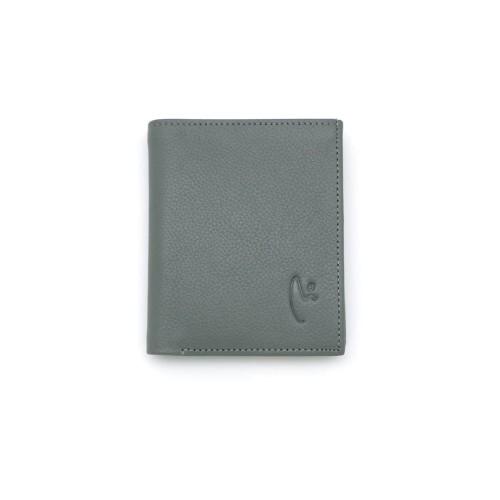 Foto Produk VERMONT B005 Classic Gray Small Genuine Leather Unisex Wallet Original dari VERMONT LEATHER