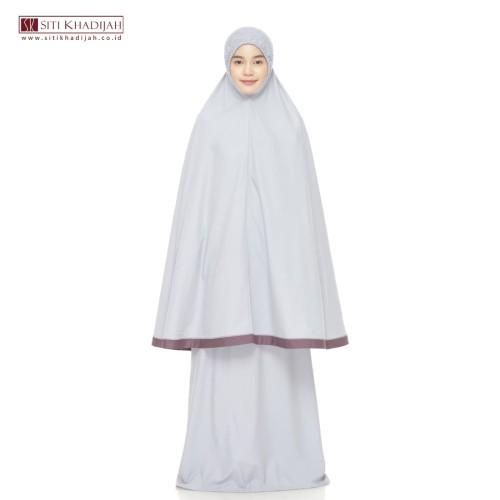 Foto Produk Mukena Siti Khadijah Tpo Grey Combi Purple - M dari Mukena Siti Khadijah