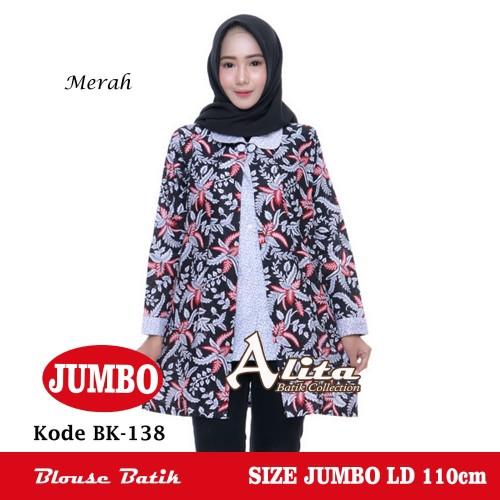 Foto Produk Blouse Batik Jumbo/ Atasan Batik Wanita Jumbo/ Batik Blouse Jumbo SH4 dari Batik Alita