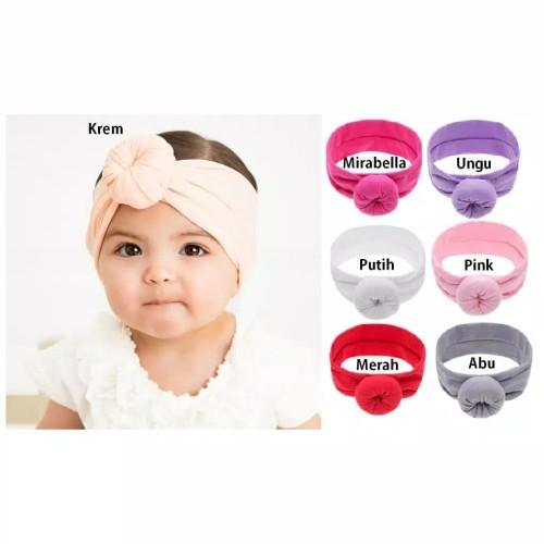 Foto Produk Bandana Bayi / Headband Bayi / Bando Bayi - Krem dari M&K ( Mom & Kids)