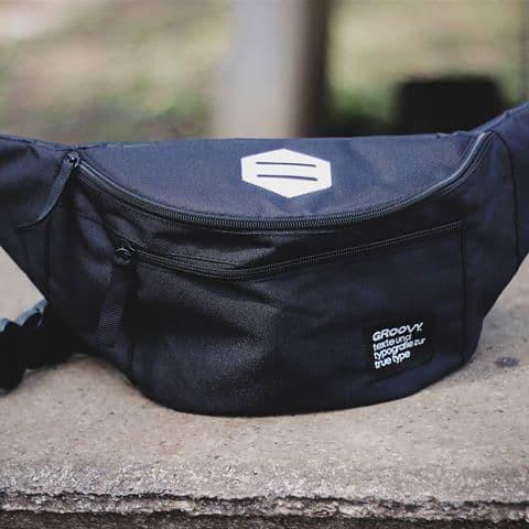 Foto Produk waistbag pria tas selempang pria murah surabaya tas import lokal - Navy dari Mamanstore