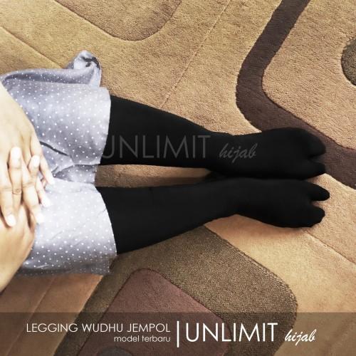Foto Produk LEGGING WUDHU JEMPOL Original By Unlimit Hijab   Leging Wudhu Jempol - Abu Tua dari Unlimit Hijab