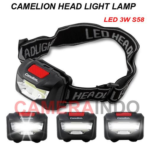 Foto Produk Head Lamp Camelion LED 3W S58 lampu senter kepala dari SMN Official