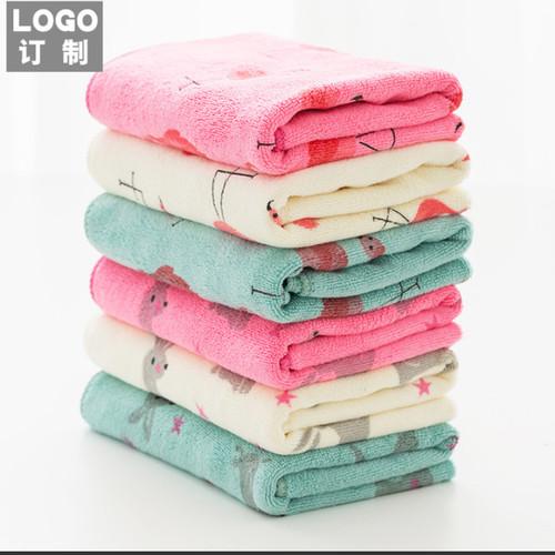 Foto Produk Handuk Microfiber / Handuk Baby / Handuk Anak halus dan lembut - 35x75 Pink dari Happy Fun Olshop