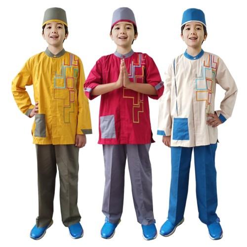 Foto Produk Baju Koko Anak Warna Fayrany FKW-011 Size 1 - 5 Tahun - 5 tahun, Merah dari Fayrany