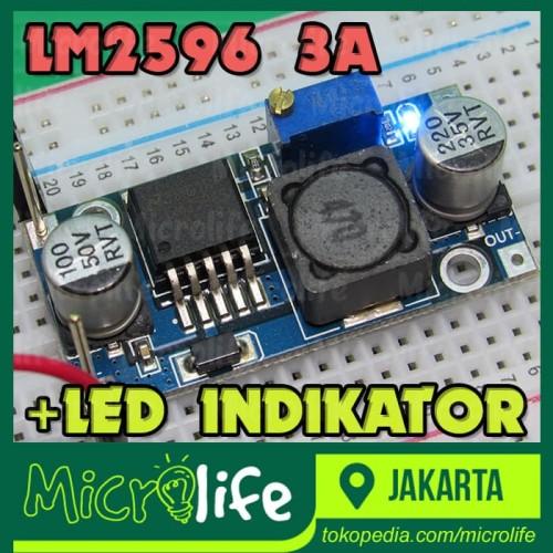 Foto Produk LM2596 Adjustable DC-DC Step Down Module dari MicroLife