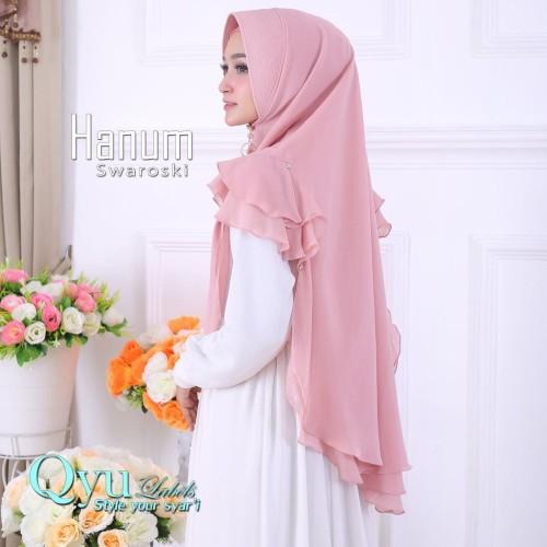 Foto Produk Jilbab Instan Hijab Syari Kerudung Khimar Ceruti Sifon Hanum Swarosky dari Jilbab Pusat