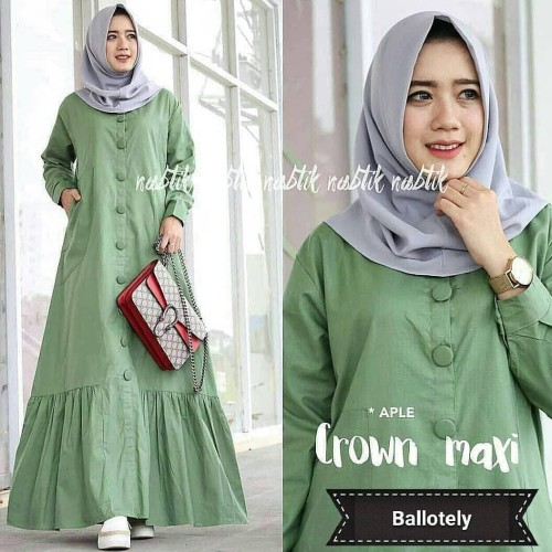 Foto Produk Baju Dress Cewek Baju Gamis Syari Wanita Terbaru Gamis Casual Polos CM dari Grosir Hijabers