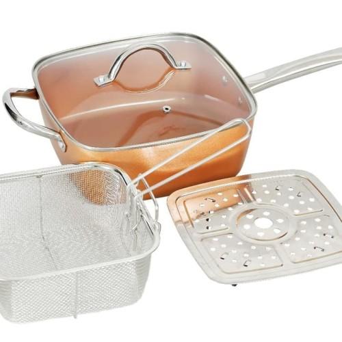 Foto Produk Square pan with lid 24cm / panci kotak 24cm Vicenza / VSP24 Vicenza dari Toko Continental